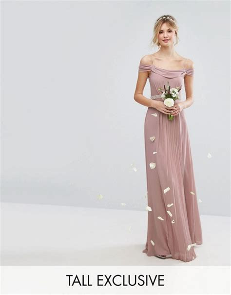 TFNC Tall   TFNC Tall Wedding Cold Shoulder Embellished