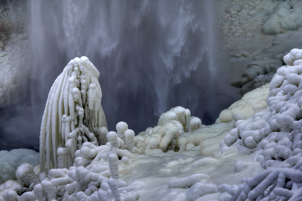 Fall Creek Falls 1, winter detail, Fall Creek Falls SP, Van Buren Co, TN