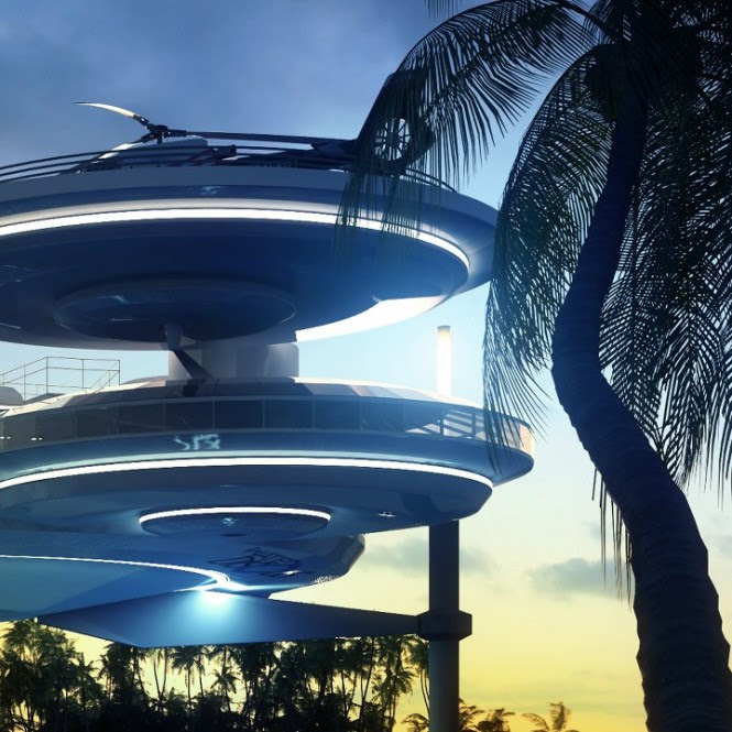 Due to the innovative design comprising individual modules that can be detached and replaced with new ones, Water Discus can also be expanded into a bigger resort complex, and may be constructed and reconstructed anywhere in the world, creating opportunities to live underwater on a permanent basis in an unlimited string of locations.