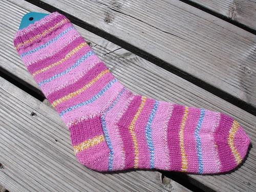 Pink (in)sanity socks WIP (2)