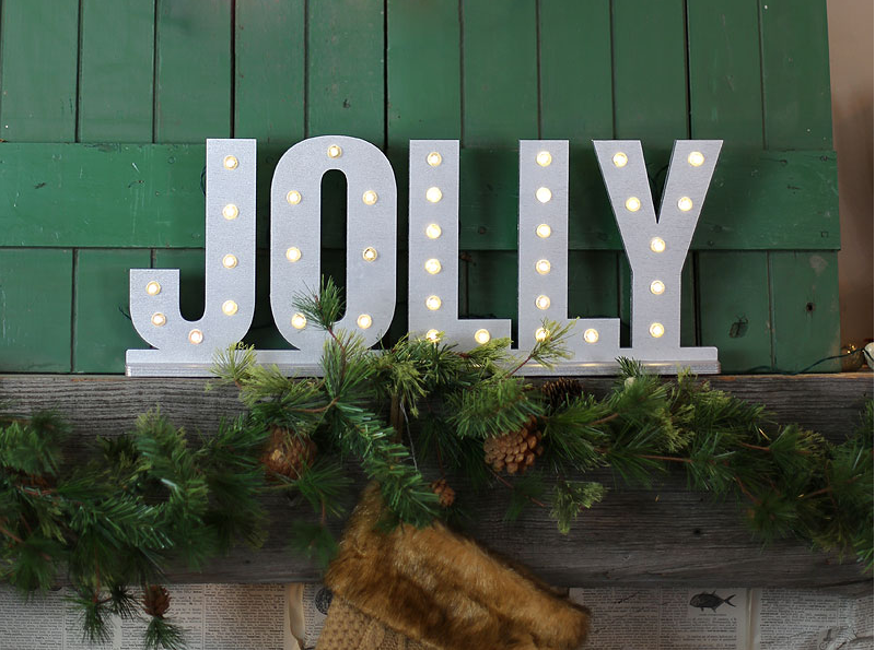 It's easy to find yourself smiling during the holidays, but just in case you needed a reminder: Hang a giant, lit up sign displaying this catchy phrase.  See more at Craft Cuts »