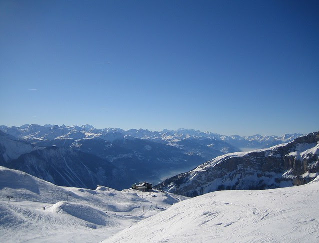 Skiing in Leukerbad