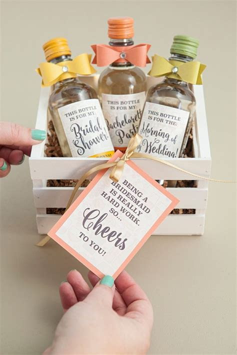 The Most Adorable DIY Mini Wine Bottle Bridesmaid Gift