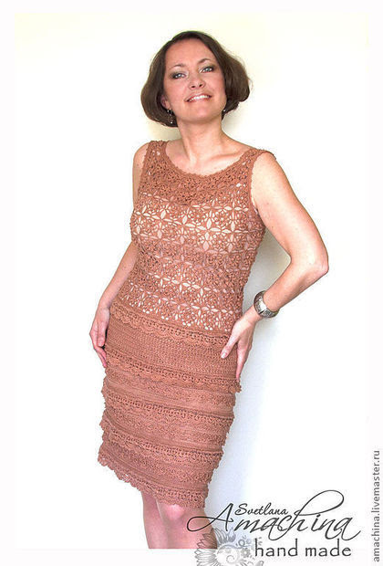 "Handmade dresses.  Fair of Masters - handmade.  Buy ""Silver Age"", based on Vanessa Montoro.  Handmade.  Brown"