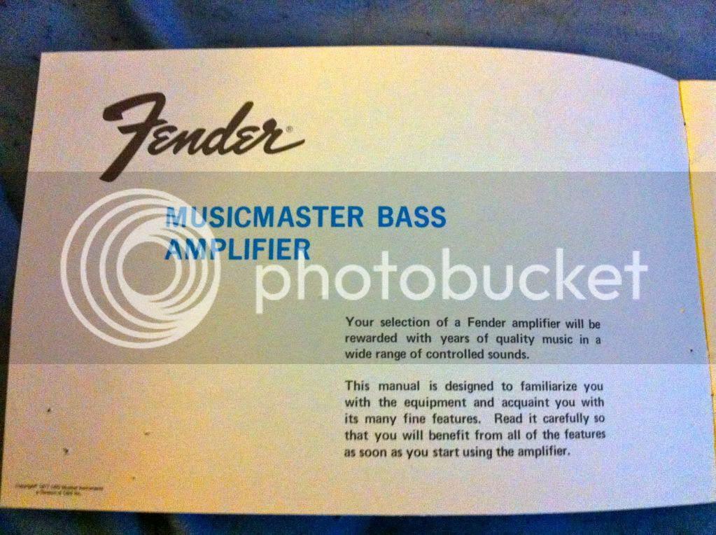 Musicmaster Bass Amp Schematic