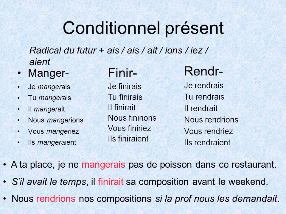 Le conditionnel présent - teoria 1 - Francuski przy kawie