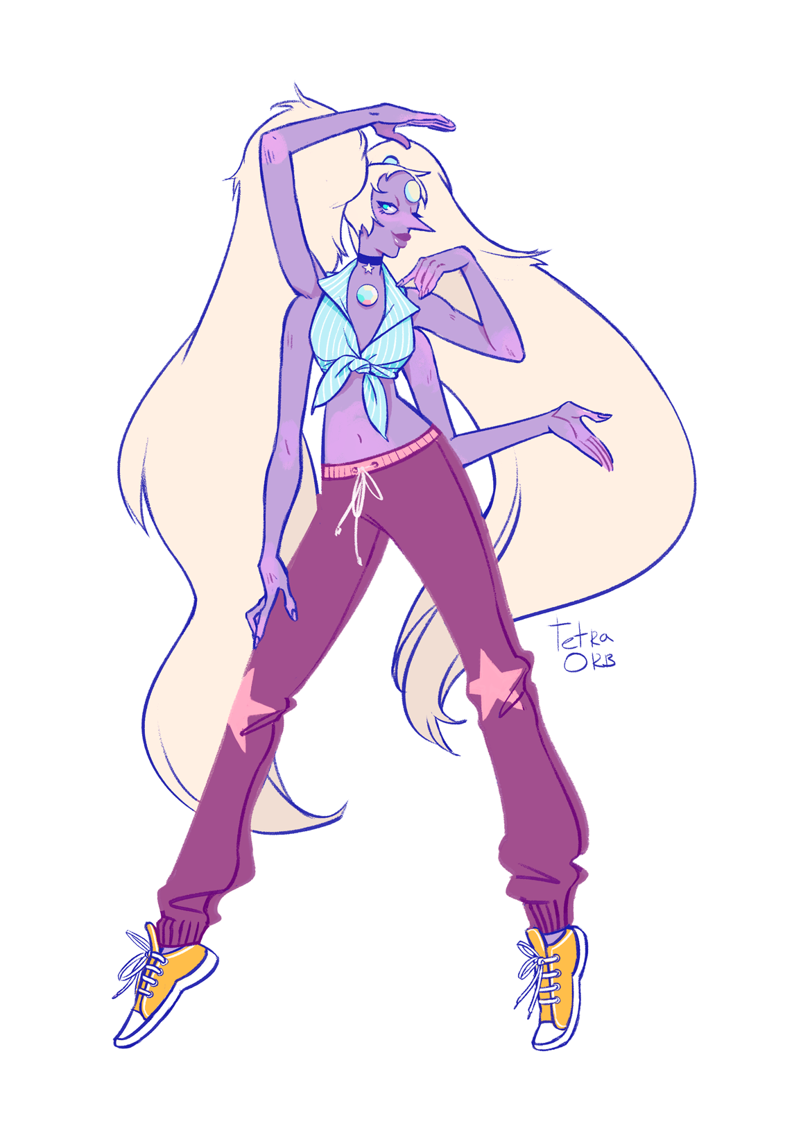 I finally have some time to draw suuuper old requests that were made like in spring… I think. 90′s chick opal for @ butterflyquartz . Sorry for such a long wait.