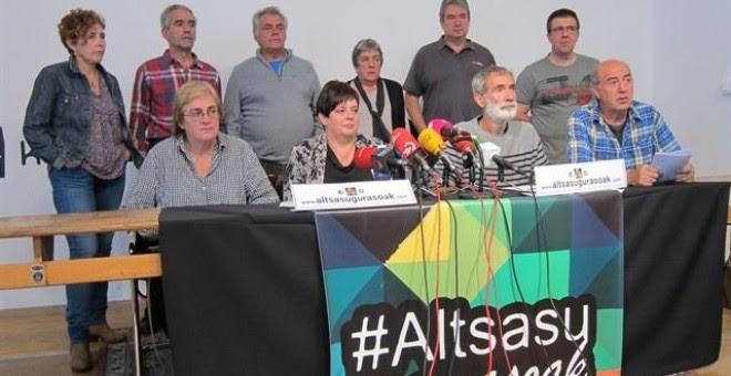 Rueda de prensa de los familiares de los jóvenes de Altsasu. E.P.