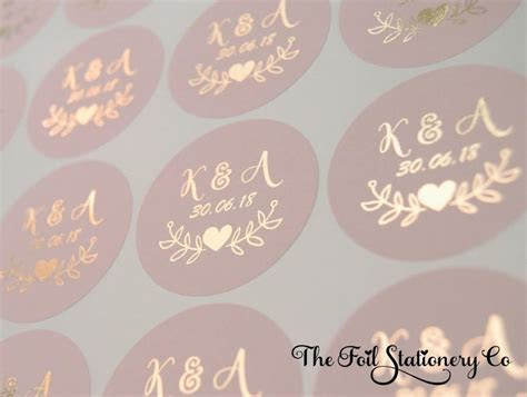 Foil Wedding Stickers, Blush Wedding Stickers, Rose Gold