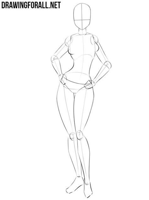 draw  anime girl body drawingforallnet