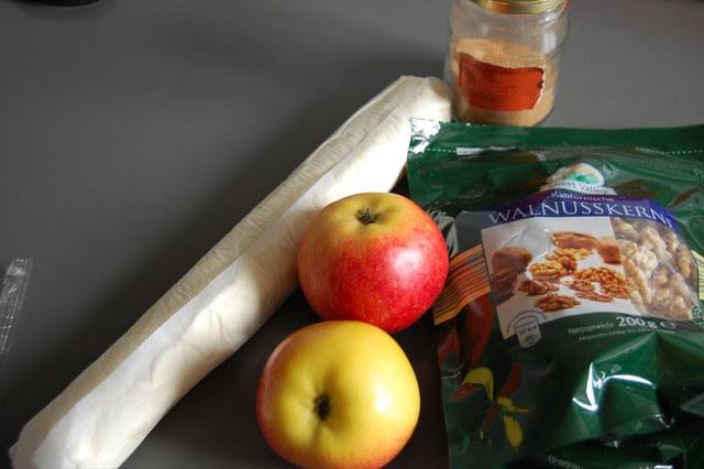 Apfelstrudelmuffins.