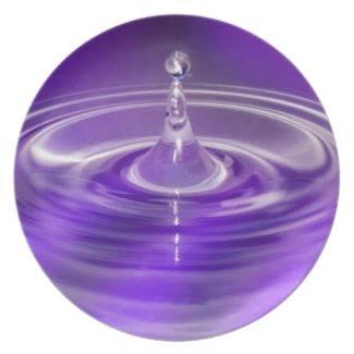 Purple Water Drop Dinner Plate