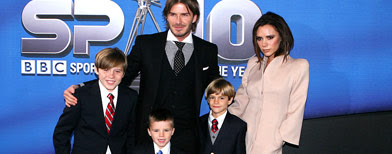 David and Victoria Beckham with their boys Brooklyn, Cruz and Romeo (Tony Woolliscroft/WireImage.com)