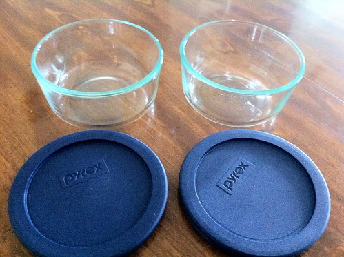 Pyrex Glass Storage Bowls with Lids