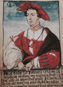 Today, 20th February, 1520, I, Matheus Schwartz of Augsburg, was just 23 years old and looked as above.