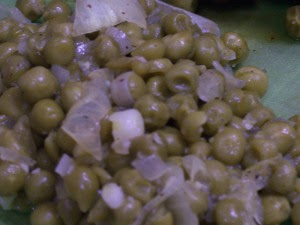 Peas and sauteed onions