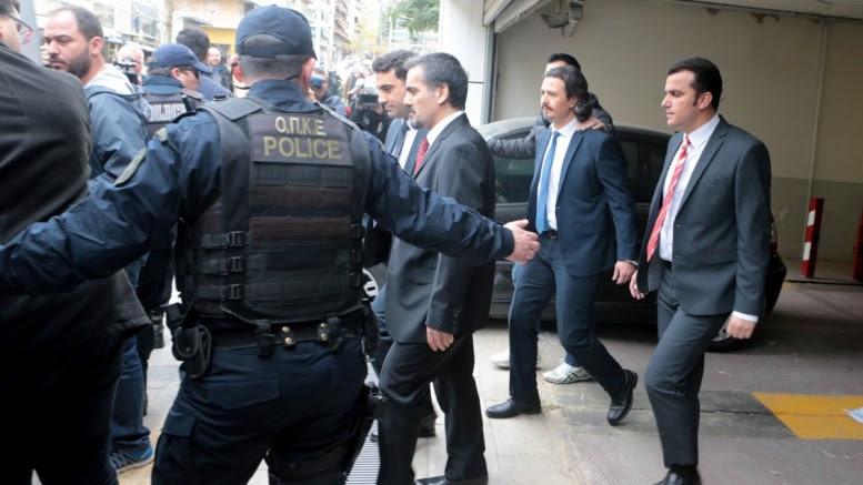 File Photo: Οι οκτώ Τούρκοι μεταφέρονται από το Εφετείο Αθηνών , Παρασκευή 16 Μαρτίου 2018. ΑΠΕ-ΜΠΕ, Παντελής Σαίτας
