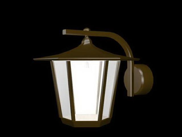 Garden wall lantern light 3d model 3dsMax files free download  modeling 18678 on CadNav