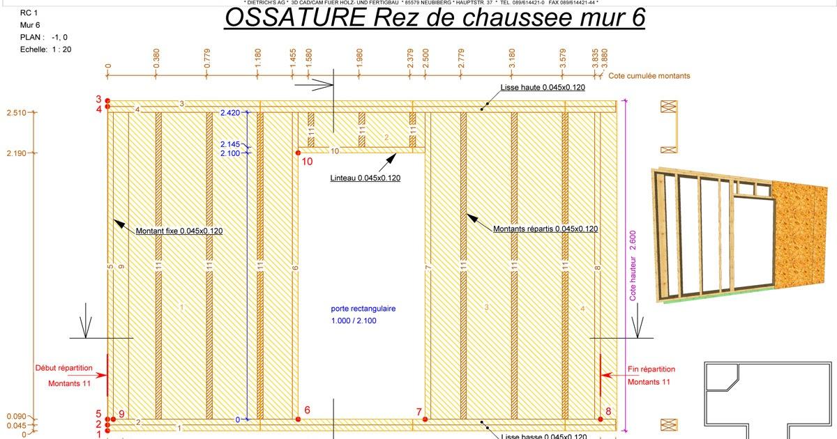 Plan construction maison bois maison begge for Construction bois 93