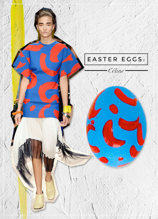 Le Fashion Blog DIY Inspiration Fashion Inspired Easter Eggs Via Style Caster Celine Painterly Prints Paintbrush Top Pleated Skirt Chic Style Holiday Decor Ideas Serena Abraham Tinsel & Twine  3 photo Le-Fashion-Blog-DIY-Inspiration-Fashion-Inspired-Easter-Eggs-Via-Style-Caster-Celine-3.png