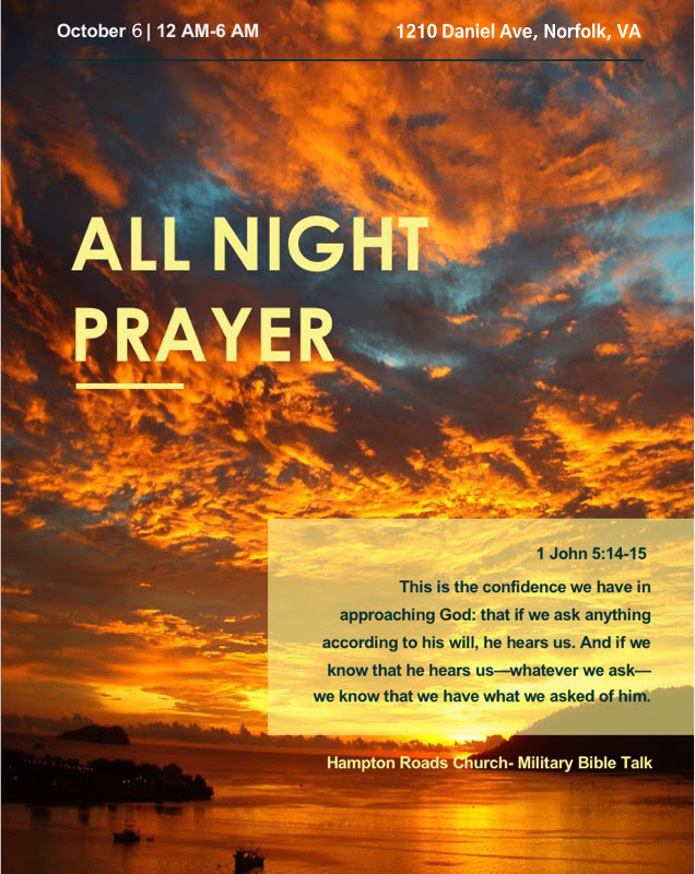 All Night Prayer Hampton Roads Church