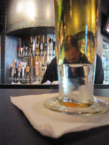 Bartender and beer