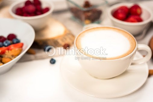 Breakfast With Coffe Good Morning Healthy Breakfast Background With