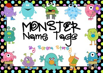 FREE & EDITABLE Name Tags- Monster and Neon... by Magic Mistakes ...