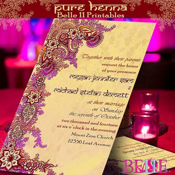 Printable Invitation Free RSVP Custom DIY by Belle11Printables ...