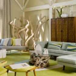 beach themed living room | dwellinggawker