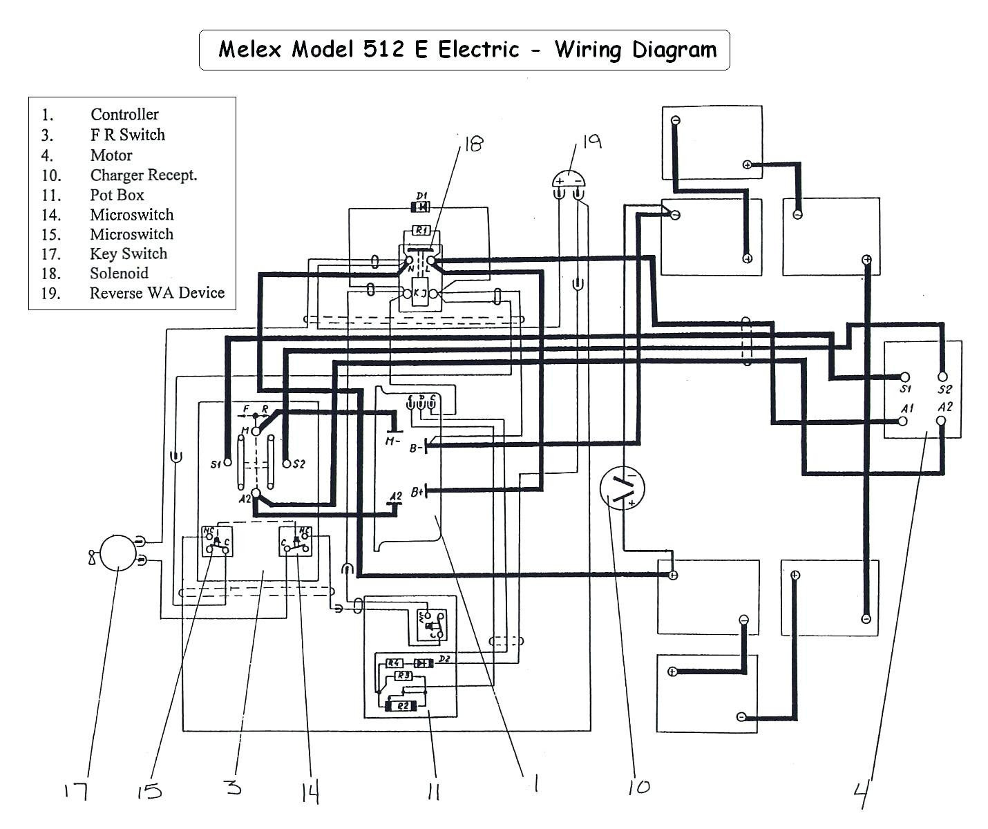 Vintage Golf Cart Wiring Diagram