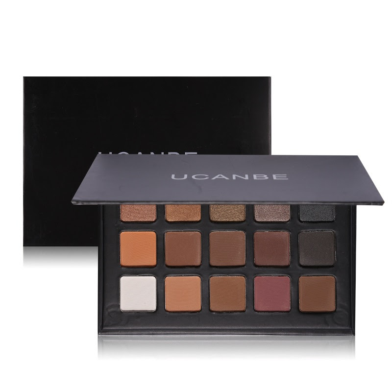 Resultado de imagen para 15 Colors Matte Shimmer Nature Glow Eyeshadow Makeup Palette Smoky Eyes Cosmetic Contouring Kit
