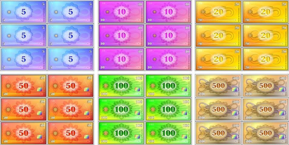 Spielgeld Vorlagen Kostenlos
