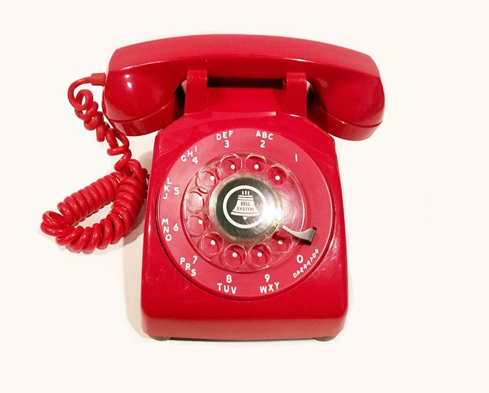 Red Rotary Phone Telephone