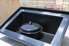 the oven door opens