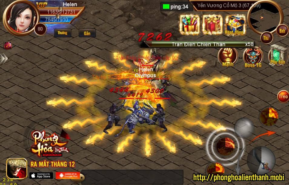 chơi game Phong Hỏa Liên Thành Mobile miến phí