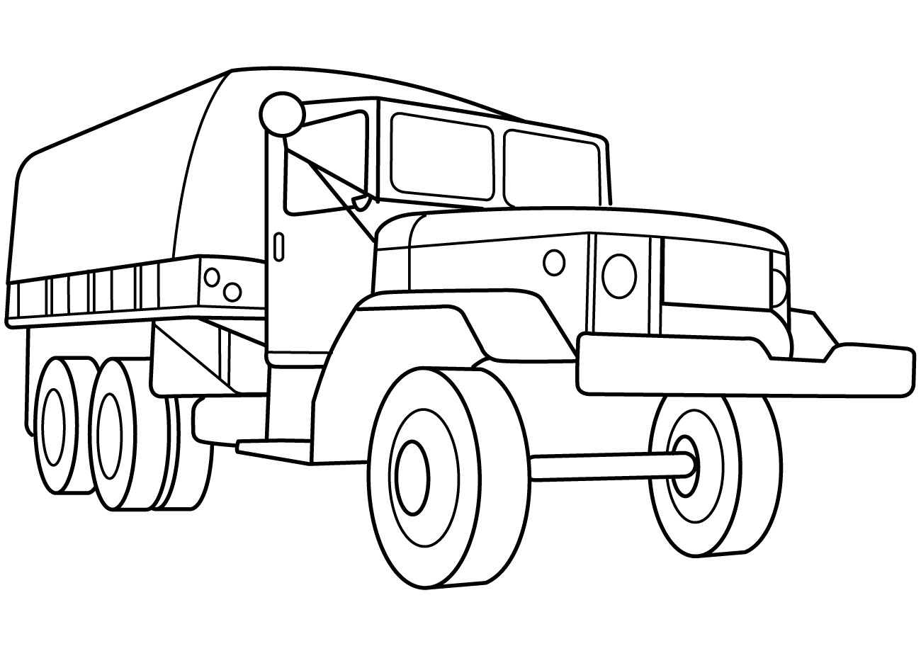 Army Truck coloring page | Free Printable Coloring Pages | 919x1300