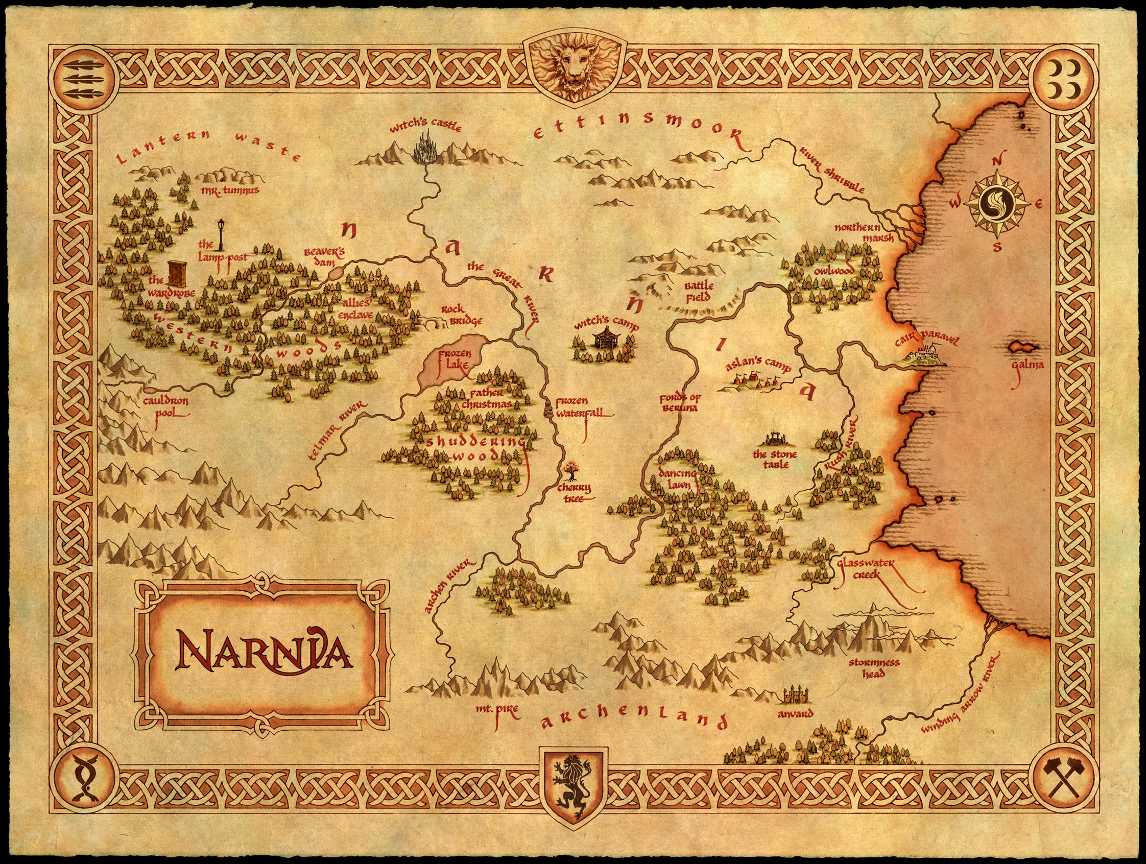 Image result for map of narnia