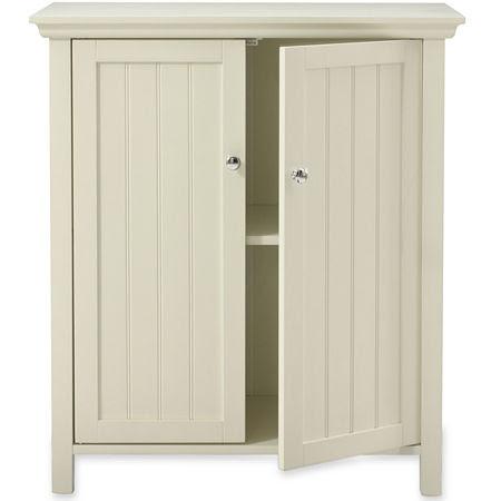 White Bathroom Floor Cabinet