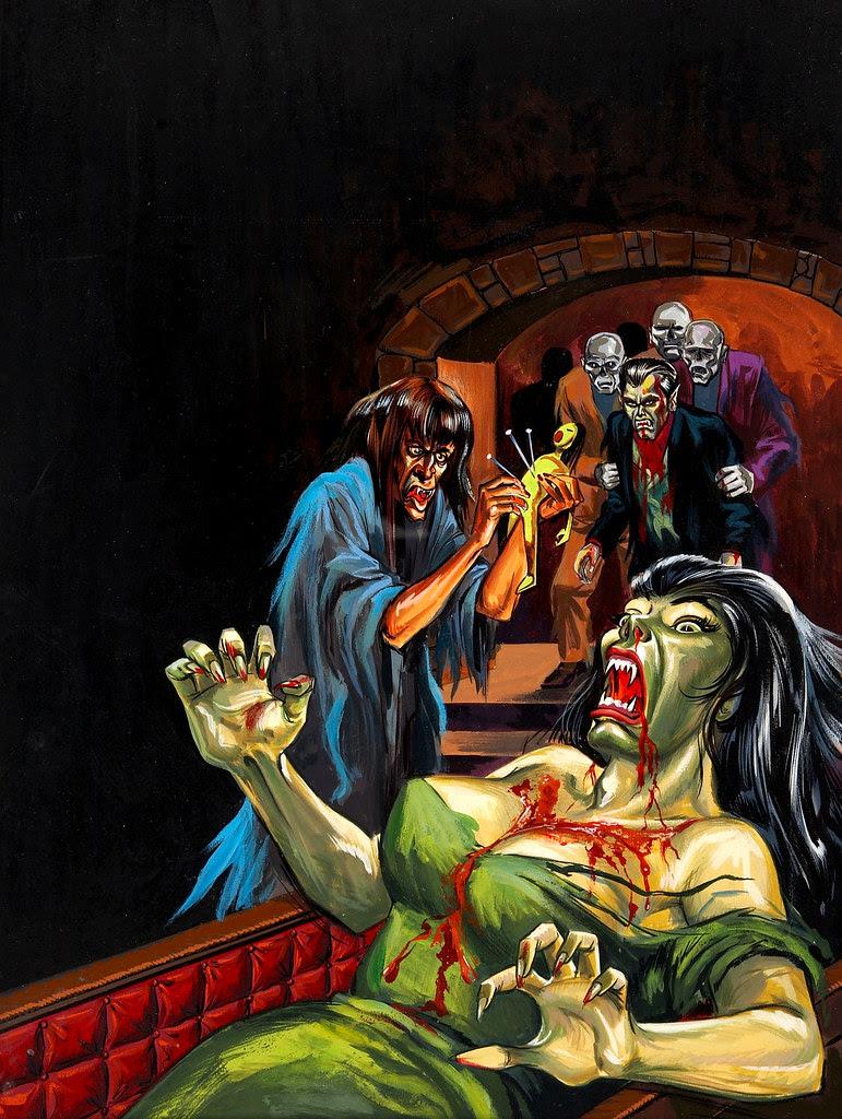 Tales of Voodoo Vol. 6 #1 Painted Cover (Eerie Publications, 1973)