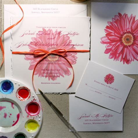 daisy wedding invitations   perloffrkgs Neutral wedding