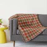 Red and Brown Tartan Plaid Throw