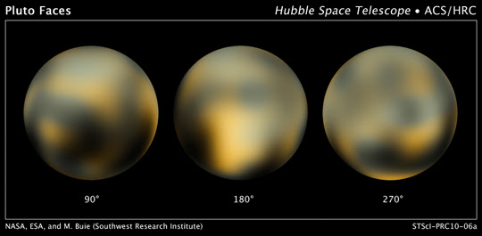Hubble images of Pluto
