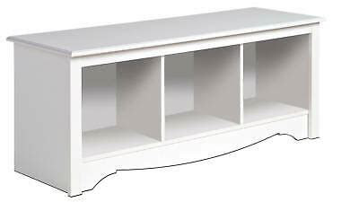 white prepac large cubbie bench  storage usd