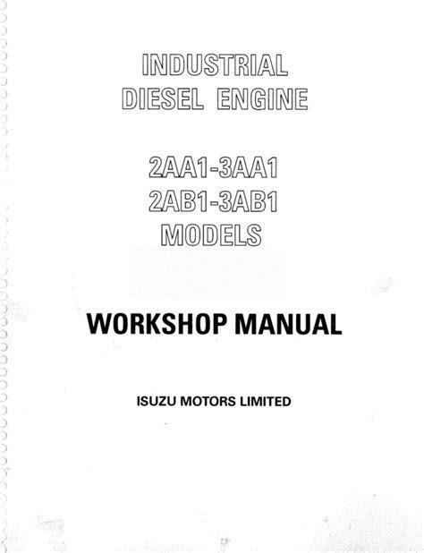 ISUZU 2AA1 3AA1 2AB1 3AB1 DIESEL ENGINE WORKSHOP MANUAL
