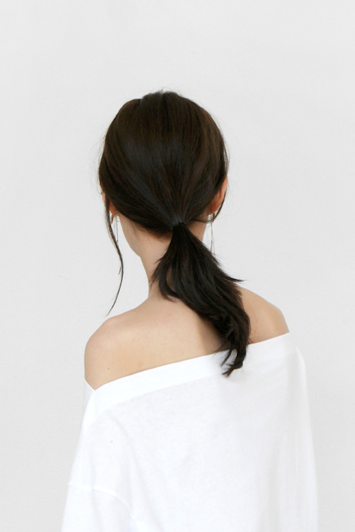 Le Fashion Blog Fall Style Low Ponytail White Off The Shoulder Top Via Death By Elocution