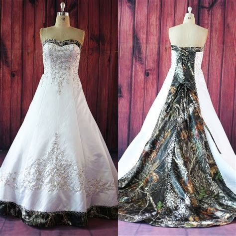 Wedding Dress, Wedding Dresses, Camo Wedding Dress, White
