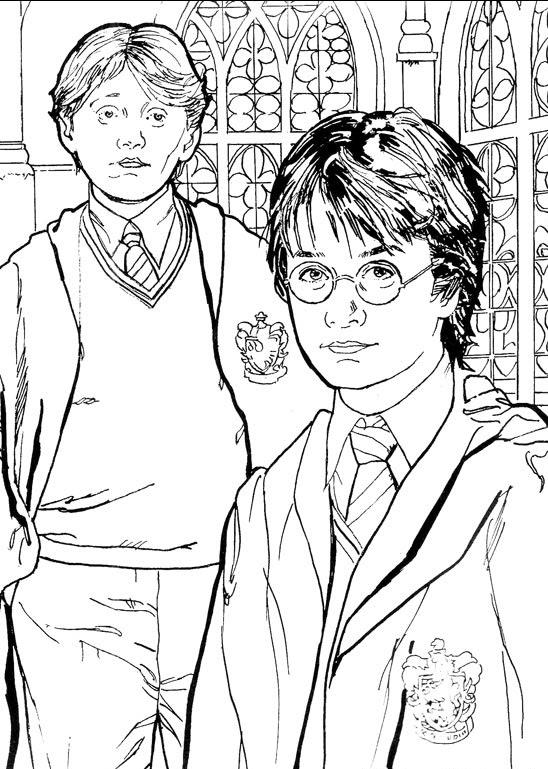 Kidsnfun.de 28 Ausmalbilder von Harry Potter 2