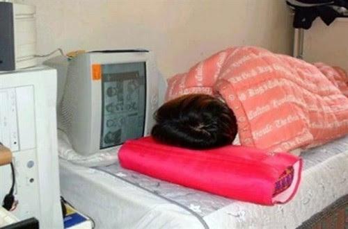 Dormindo no computador