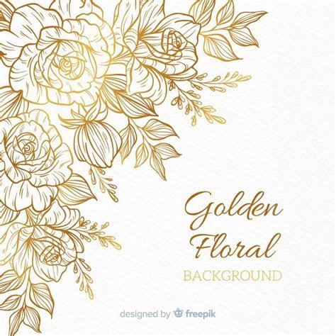 Fond floral doré   Télécharger des Vecteurs gratuitement